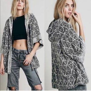 Sante Fe Jacquard oversized zip up hoodie